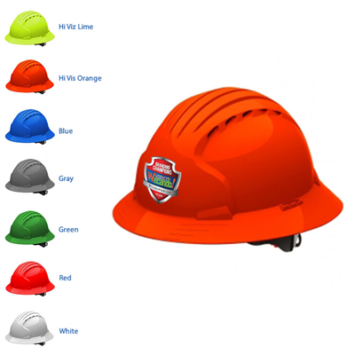 JSP Evolution Deluxe Full Brim Vented Hard Hat