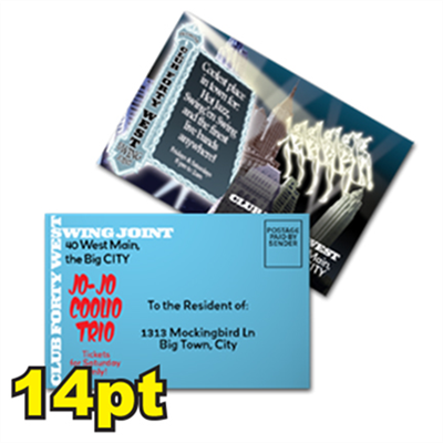 "6"" x 9"" 14pt Matte/Dull Postcards"