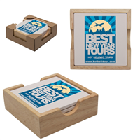 Promotional Absorbent Stone Coaster Set