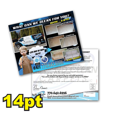 "8 1/2"" x 11"" 14pt Matte/Dull Postcards"