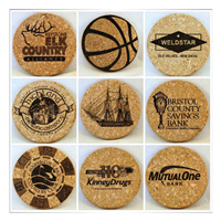 Laser Engraved Cork Coaster