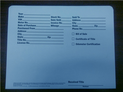 Auto Folder With Info Printed - Blue