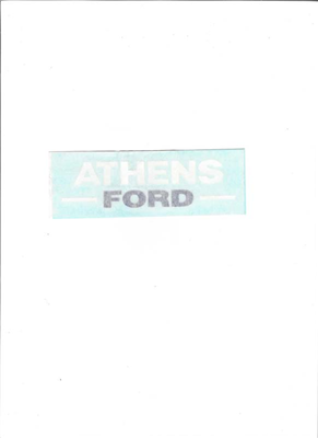 Auto Glass Sticker (White Athens)