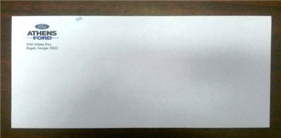 Envelope, #10 Solid White, No Window, with Return