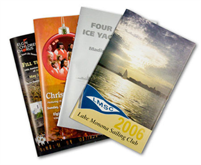 "8 Page 5 1/2"" x 8 1/2"" Booklets 100lb Gloss Text"